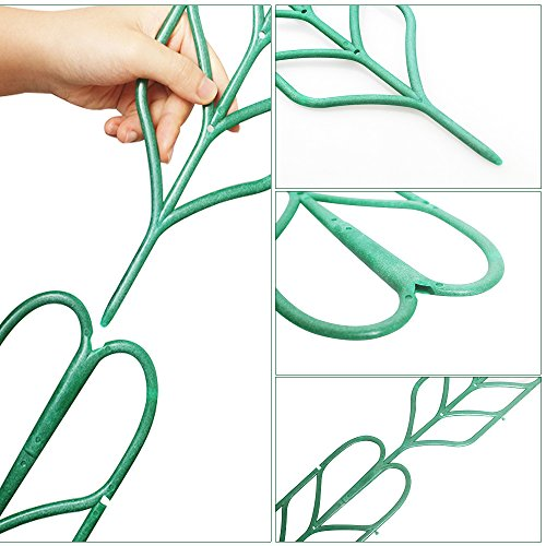 Aniann Garden Trellis for Mini Climbing Plants, Leaf Shape Potted Plant Support Vines Vegetables Vining Flowers Patio Climbing Trellises for Ivy Roses Cucumbers Clematis Pots Supports (6 Pack) by Aniann (Image #5)