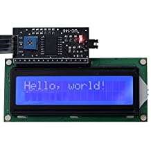 Industry Park IIC/I2C/TWI/SP  I Serial Interface + Blue Display 1602 16X2 Character LCD Module for Arduino UNO R3 MEGA2560