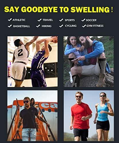 3ペア圧縮ソックスメンズレディースアスレチックソックスの実行、バスケットボール、サッカー、旅行、20–30、L/XL、XXL、