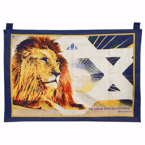 Tapestry-lion of Judah 27