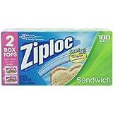 Ziploc Sandwich Bag Value Pack, 100 Count (Pack of 3)