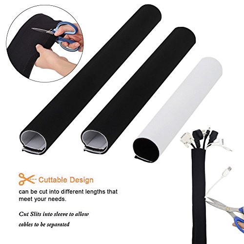 118inch Neoprene Cable Management Sleeve Neoprene Cord Organizer Neoprene Flexible Cable Cover Neoprene Cable Protector