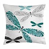 Dragonfly Throw Pillow Cushion