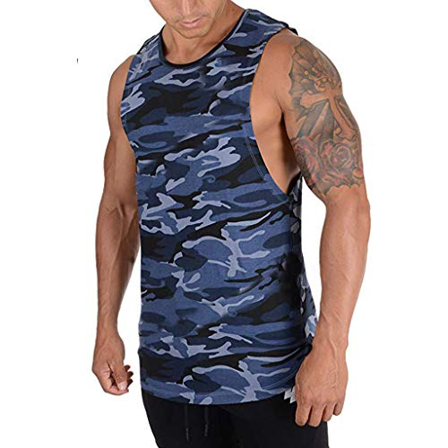 YKARITIANNA Men's Summer Fashion Camouflage Printing Sleeveless Leisure Sports Vest Tops 2019 Summer Hot Sale