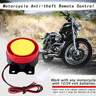 12V Universal Motorcycle Alarm System Remote Control Engine Start 125dB