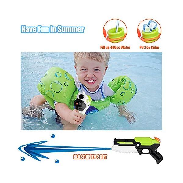 MOZOOSON Giocattoli per Bambini di 3 Anni, 2 Pack Pistole ad Acqua con 2x400ml capacità per Bambini, Water Squirt Gun… 4 spesavip