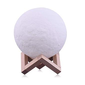 LED 3d Forma de la luna Lamparas de escritorio Decoración ...