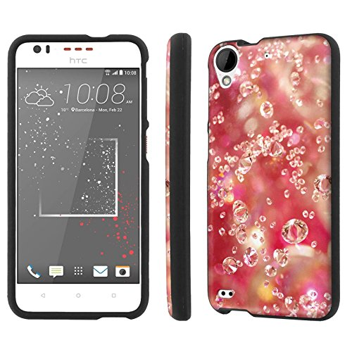 HTC Desire 530 Armor Case [NakedShield] [Black] Total Armor Protection [Shell Snap] [Screen Protector] Phone Case - [Diamond] for HTC Desire 530