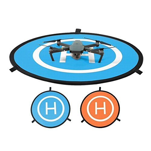 """Universal Drone Landing Pad for RC drone size 30""""(75cm) Quadcopter launch pad, Helicopter Mini helipad ,compatible for racing drone , DJI Mavic inspire 1 2 phantom 2 3 4 pro, Parrot, Fast-Fold"""