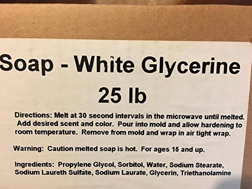 25 LBS OF WHITE GLYCERINE SOAP BASE, MELT AND POUR SOAP MAKING SUPPLIES