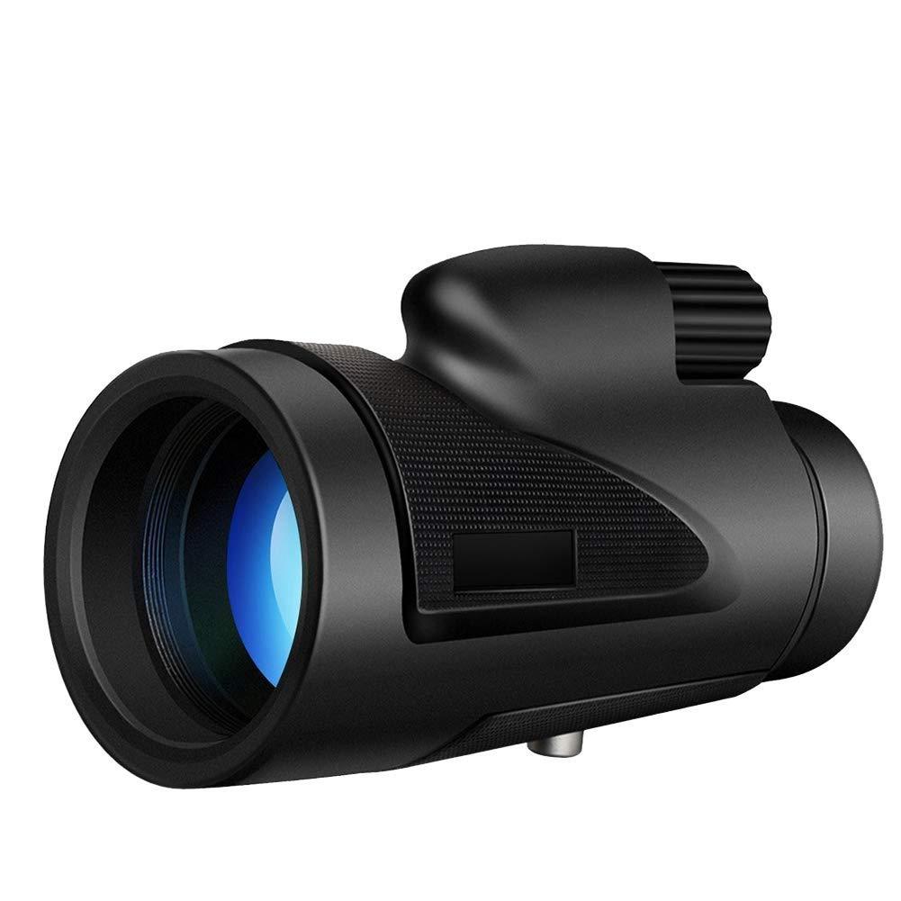 EAHKGmh Monocular Telescope 40x60 High Power HD Focus BAK4 Prism Lens Single Hand Waterproof Shockproof Focus for Bird Watching Camping Black by EAHKGmh
