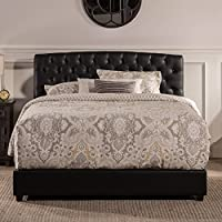 Hillsdale Hawthorne Collection Bed Set, California King, Black Faux Leather