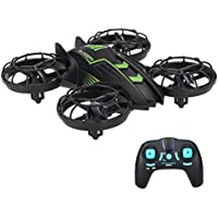 RC Quadcopter Drone with Mini WIFI FPV Camera Aircraft Plane Warcraft 2.4G 4CH UFO Helicopter with Altitude Hold, Headless Mode, 0.3MP Rolling for JXD 515V Built-in USB Battery