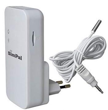 Simpal T2 SMS - Controlador de corte de corriente y temperatura (con enchufe)
