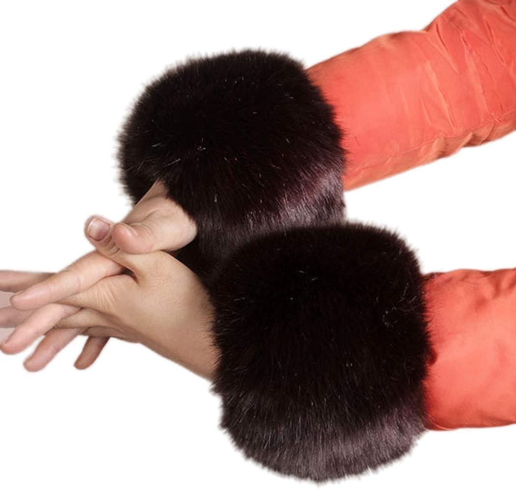 Tngan Women Fux Fur Wrist...