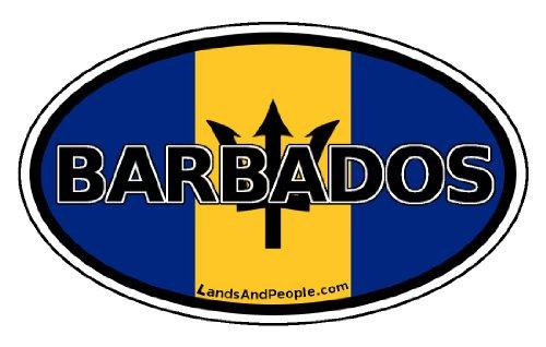 Barbados Flag Caribbean Car Bumper Sticker Decal ()