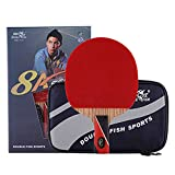 Double Fish 8 Star Table Tennis Racket Aryl Carbon, Ping Pong Paddle