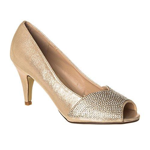 Zapatos Diva Con Tacón Mujer Miss Dorado aHw8qp