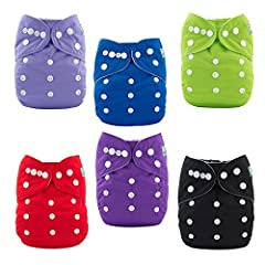 Alva cloth diapers draw more recommendations of the mother.  Feature They contain more comfortable material and fine workmanship. Touching softer, more comfortable to wear, more healthy, absorbent stronger. Each of them has one more rows of s...