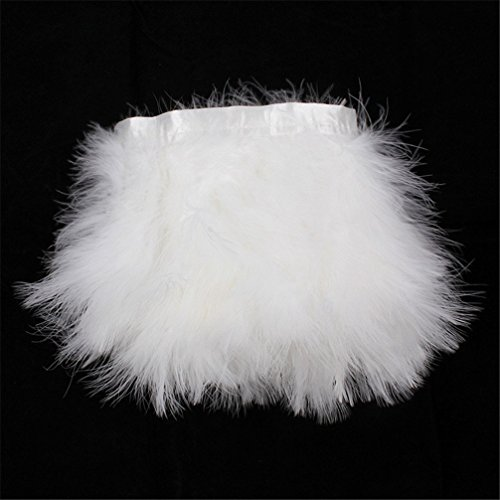 Turkey Marabou Hackle Fluffy Feather Fringe Trim Craft 6-8