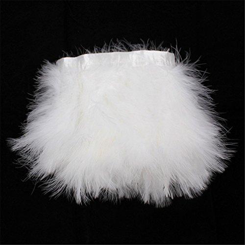 Turkey Marabou Hackle Fluffy Feather Fringe Trim Craft 6-8