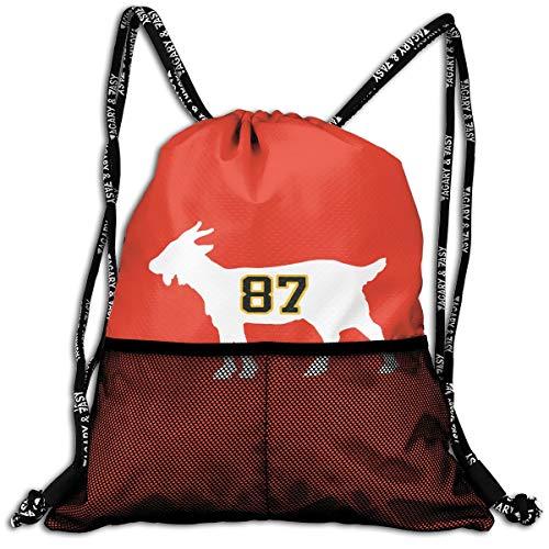 - Drawstring Backpack Black Pittsburgh Crosby Goat Shoulder Bags Rucksack For Kids Teens Boys And Girls Sport Gym Sack Cute Gym Bags