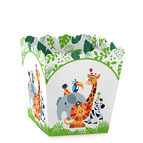 - Jungle Party Animals - Party Mini Favor Boxes - Safari Zoo Animal Birthday Party or Baby Shower Treat Candy Boxes - Set of 12