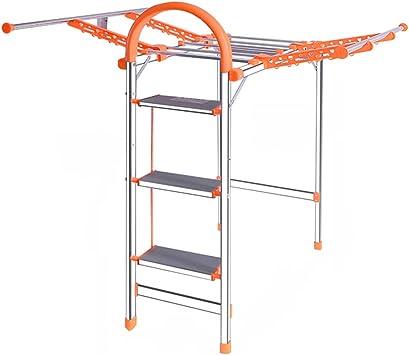 SZQ Escalera multiusos, estante de secado al aire libre Escalera de cinco escalones de metal Escalera de cuatro peldaños plegable Escalera de la sala de estar Ahorro de trabajo: Amazon.es: Bricolaje y