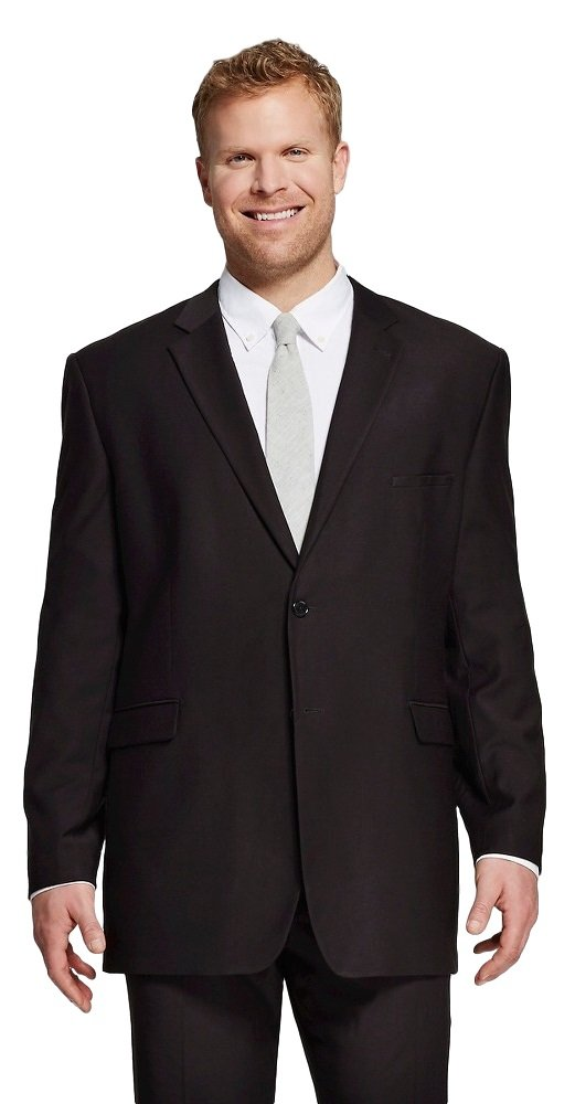 Merona Men's Big and Tall Classic Fit Suit Jacket (Medium Tall, Ebony) by Masked Brand (Image #1)