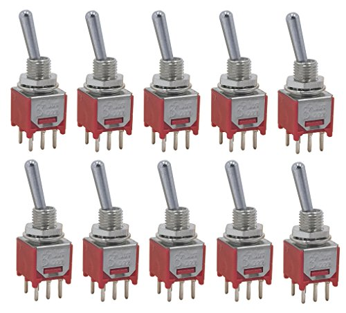 Pcb Mount Switches - 10 pcs Taiwan Subminiature DPDT sub mini ON ON Toggle Switch for PCB mount smt smd
