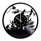 Peter Pan Vinyl Record Wall Clock - Home Room wall decor - Gift ideas for children, kids - Funny Cartoon Unique Art Design