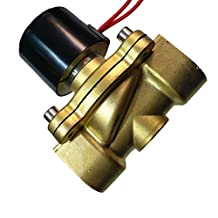 MagiDeal 24V AC 3/4'' Brass Electric Solenoid Valve Water Air Fuels Gas Normal Closed
