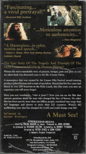 Jesus Meticulous Attention to Authenticity (VHS Video Tape)