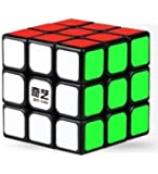 IndiaBuy 3x3x3 QIYI Black Background Rubik's Magic Smooth Speed Cube 3D-Puzzle Cube Recommended for 3-99 yrs
