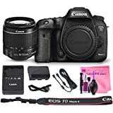 Canon EOS 7D Mark II Digital SLR Camera Deluxe PRO Bundle + Canon EF-S 18-55mm f3.5-5.6 IS II Lens + Camera Works PRO Kit