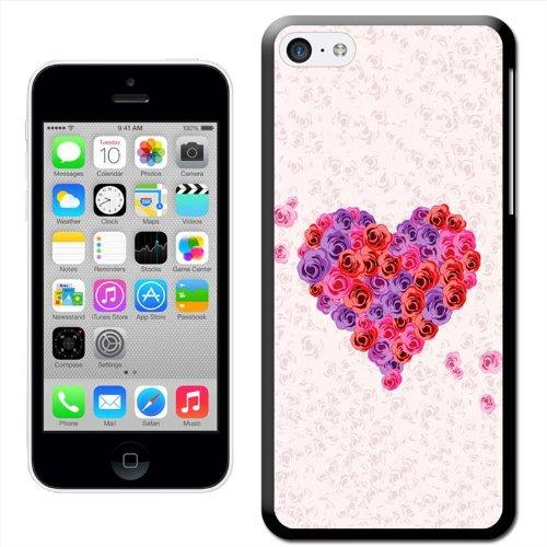Fancy A Snuggle Cœurs Roses Rose/Rouge et Violet Coque arrière rigide à clipser pour Apple iPhone 5C