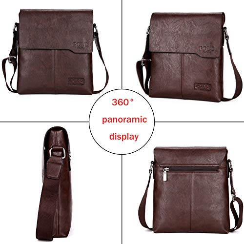 VICUNA POLO Shoulder Bag Business Man Bag Messenger Bag for Men Crossbody  Bag (brown) 29318e7ccf337