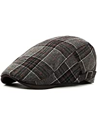 Men s Newsboy Gatsby Hat Vintage Beret Flat Ivy Cabbie Driving Hunting Cap  for Boyfriend Gift 4ae868f458d9