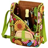 Picnic at Ascot  Wine and Cheese Cooler Bag Equipped for 2 with Glasses, Napkins, Cutting Board, Corkscrew , etc.  – Floral For Sale