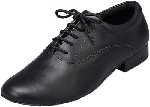 MGM-Joymod Mens Classic Comfort Lace-up Leather Closed Toe Salsa Tango Samba Jazz Rumba Ballroom Latin Modern Dance Shoes