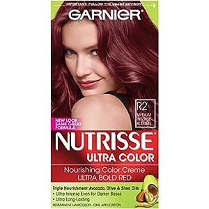 9. Garnier Nutrisse Ultra Color Nourishing Hair Color Creme, R2 Medium Intense Auburn (Packaging May Vary)
