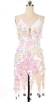 Jian E Lentejuelas de escamas de pez Disfraces de baile moderno ...