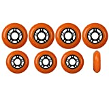 Player's Choice Outdoor Inline Skate Wheels 72mm / 80mm 89A Orange Hilo Set Rollerblade Hockey