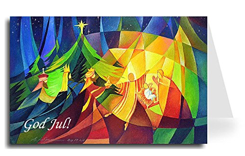 Merry Christmas Greeting Card - Nativity 1 (10 Cards) ()