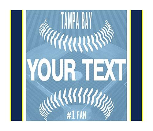 BleuReign(TM) Personalized Custom Name Baseball Tampa Bay License Plate Square Refrigerator Fridge Magnet
