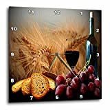 3dRose dpp_14294_2 Wine Bread Grapes Wall Clock, 13 by 13-Inch Review