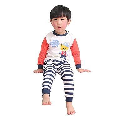 aa5e9f465 Kootk Kids Toddler Pajamas Set Newborn Infant Baby Boy Girl Tops + ...