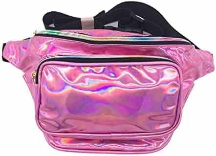 CHAOM Women Hologram Laser Waist Bag Fashion Waterproof Shiny Neon Fanny Pack Bum Bag Travel Purse