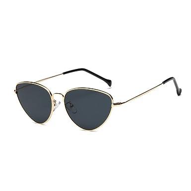des lunettes de soleil,LHWY Nouveau Les femmes hommes d'été Vintage rétro lunettes de soleil yeux de verre aviateur miroir lunettes de voyage (Or, Gris)