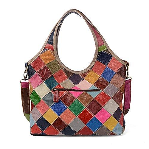 Da A Colore Tracolla Capacità Di Borsa Donna Mosaico Contrasto OnesizeMulticolore MultifunzionalecoloreMulticoloreDimensioni Mano Colorata Grande 6Yybgf7